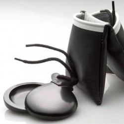 Castañuelas vidrio negro con pico
